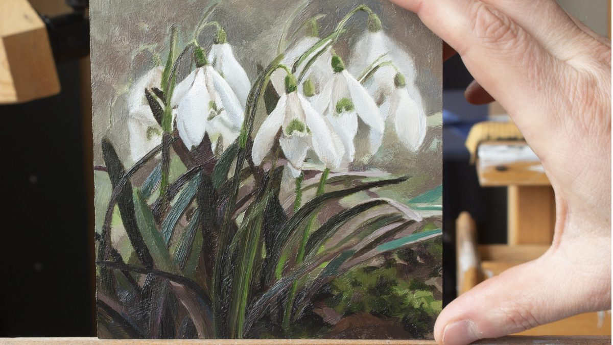 Study of Snowdrops in Oil